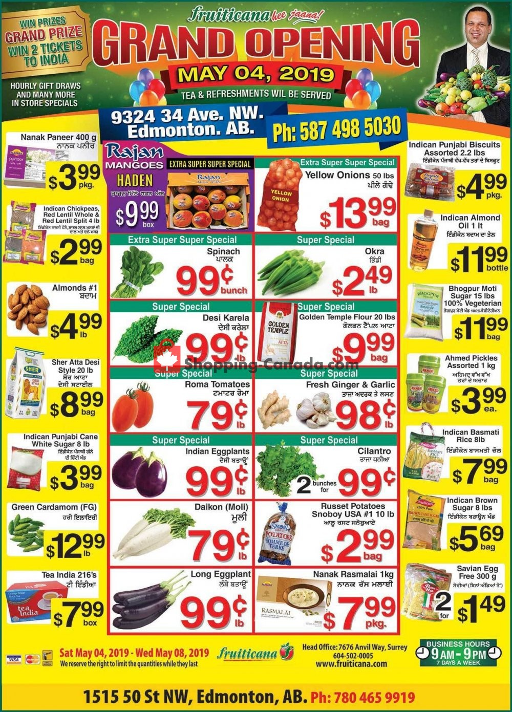 Flyer Fruiticana Canada - from Saturday May 4, 2019 to Wednesday May 8, 2019