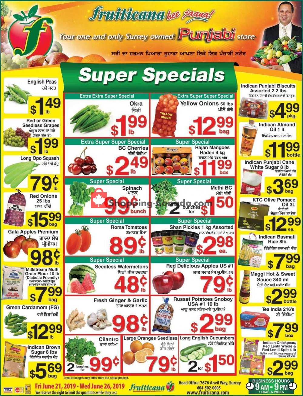 Flyer Fruiticana Canada - from Friday June 21, 2019 to Wednesday June 26, 2019