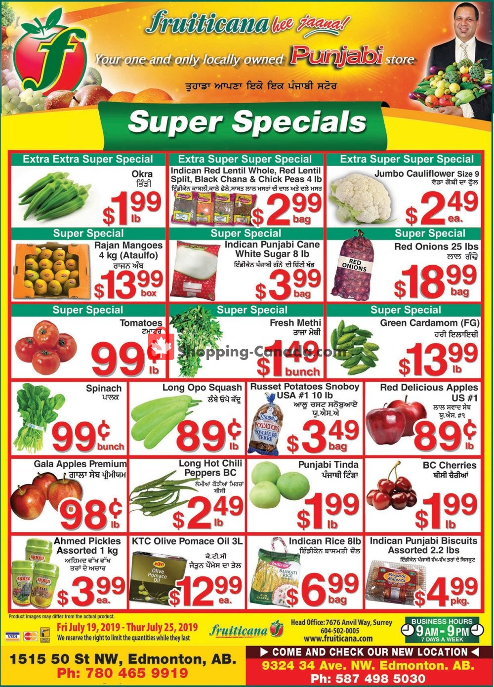Flyer Fruiticana Canada - from Friday July 19, 2019 to Thursday July 25, 2019