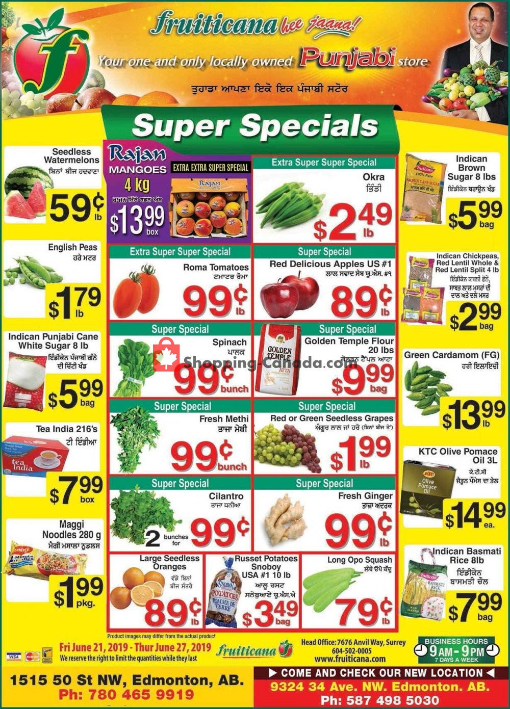 Flyer Fruiticana Canada - from Friday June 21, 2019 to Thursday June 27, 2019