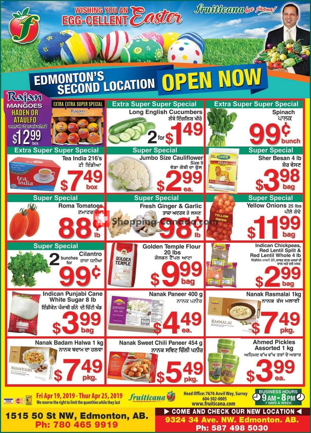 Flyer Fruiticana Canada - from Friday April 19, 2019 to Thursday April 25, 2019