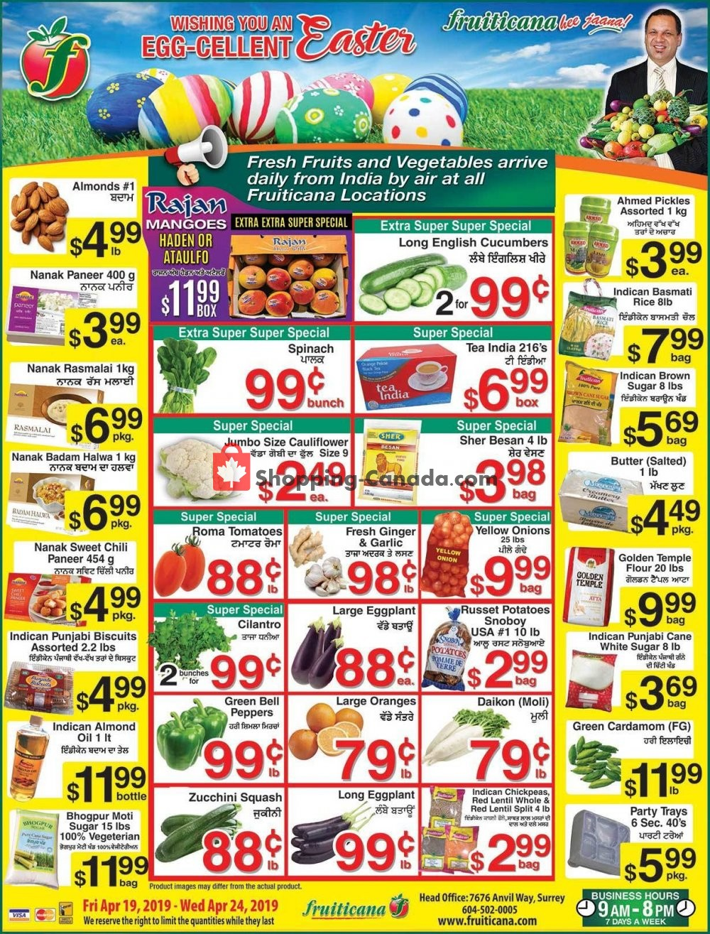 Flyer Fruiticana Canada - from Friday April 19, 2019 to Wednesday April 24, 2019