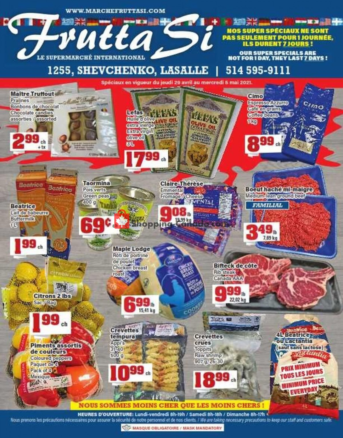 Flyer Frutta Si Canada - from Thursday April 29, 2021 to Wednesday May 5, 2021