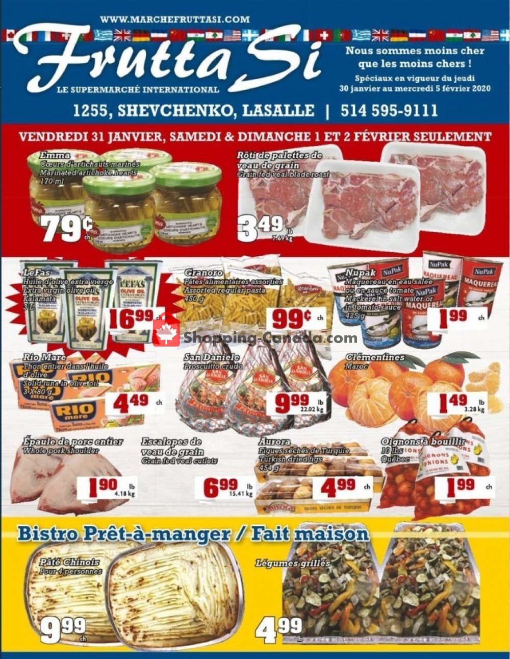 Flyer Frutta Si Canada - from Thursday January 30, 2020 to Wednesday February 5, 2020