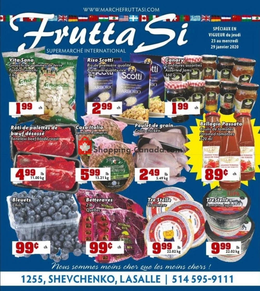 Flyer Frutta Si Canada - from Thursday January 23, 2020 to Wednesday January 29, 2020
