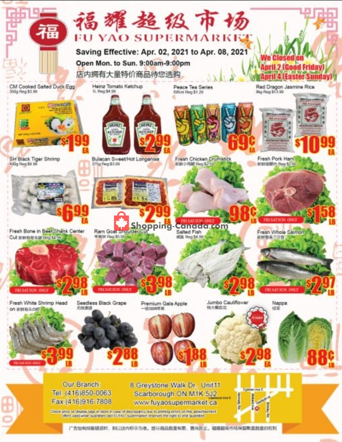 Flyer Fu Yao Supermarket Canada - from Friday April 2, 2021 to Thursday April 8, 2021