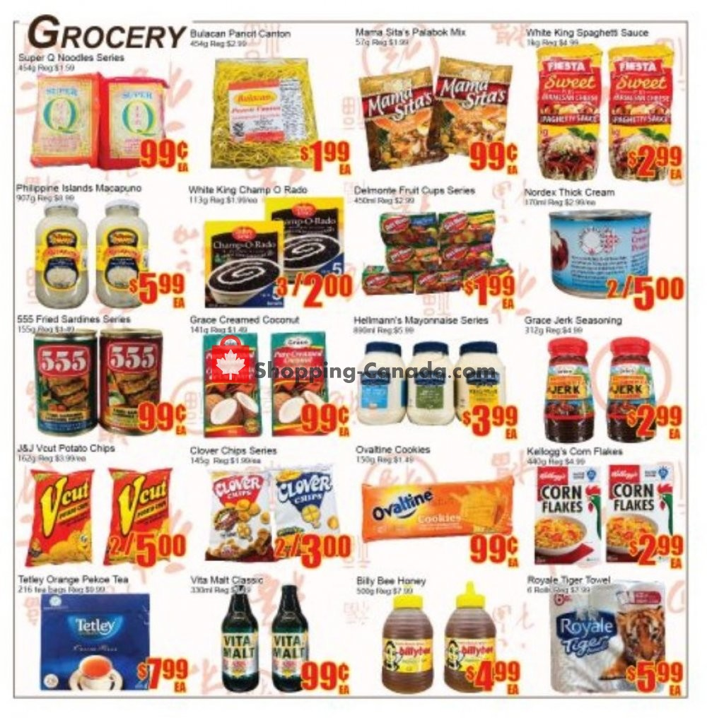 Flyer Fu Yao Supermarket Canada - from Friday July 12, 2019 to Thursday July 18, 2019