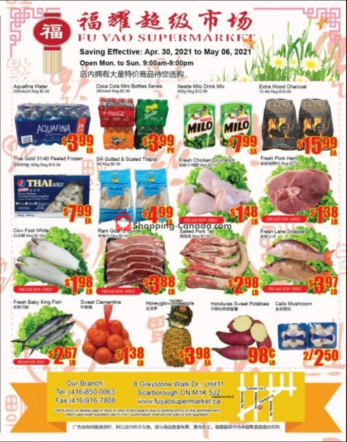 Flyer Fu Yao Supermarket Canada - from Friday April 30, 2021 to Thursday May 6, 2021