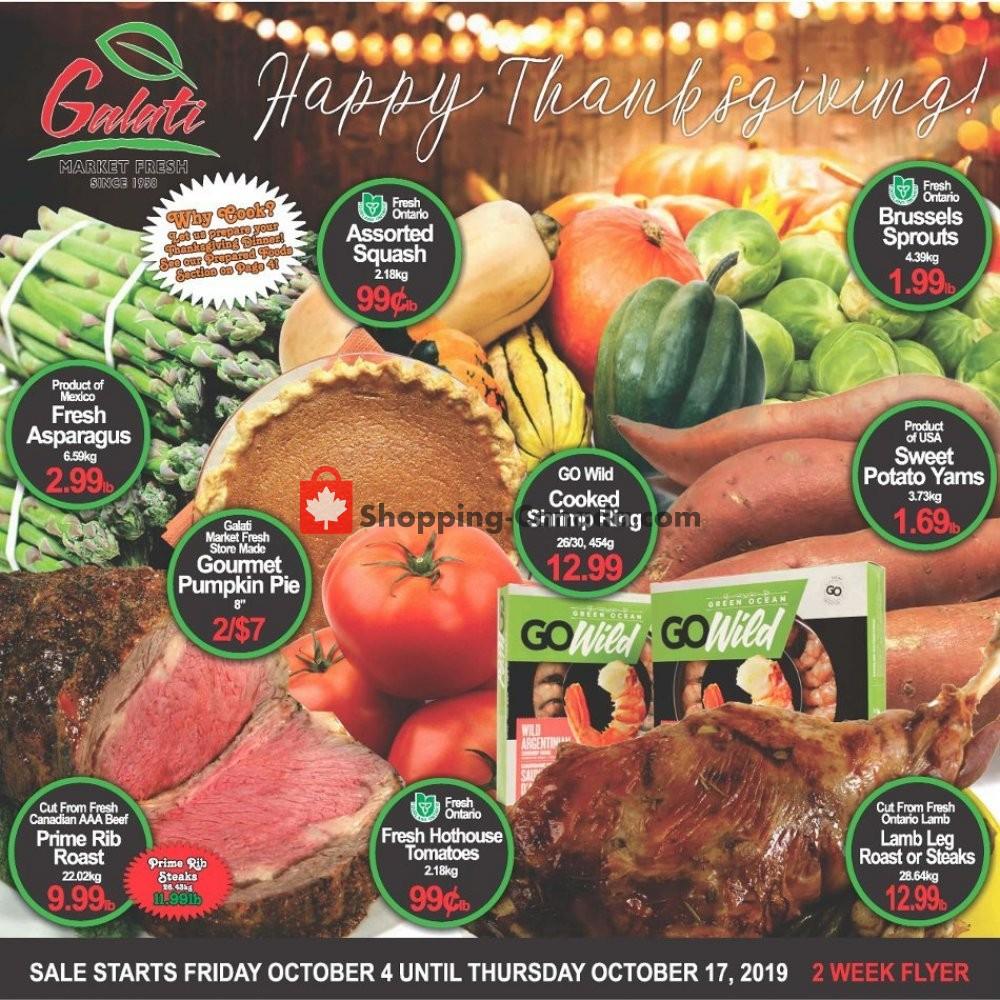 Flyer Galati Market Fresh Canada - from Friday October 4, 2019 to Thursday October 17, 2019