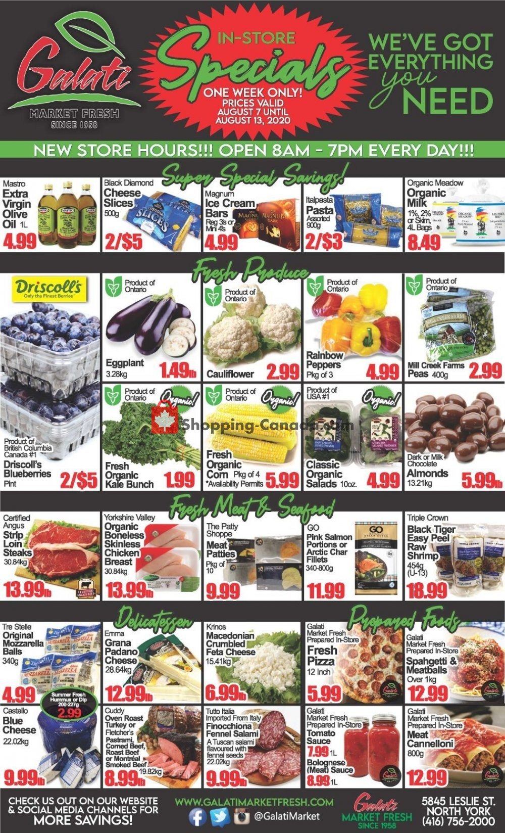 Flyer Galati Market Fresh Canada - from Friday August 7, 2020 to Thursday August 13, 2020