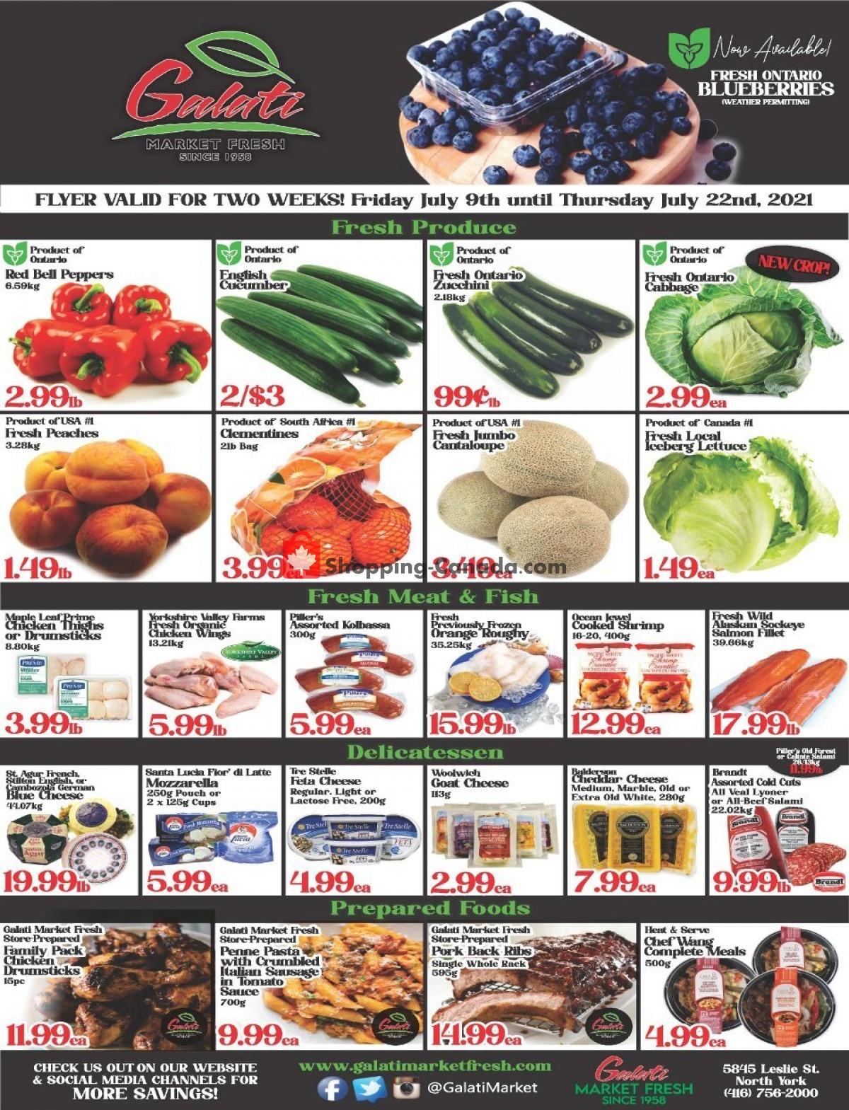 Flyer Galati Market Fresh Canada - from Friday July 9, 2021 to Thursday July 22, 2021
