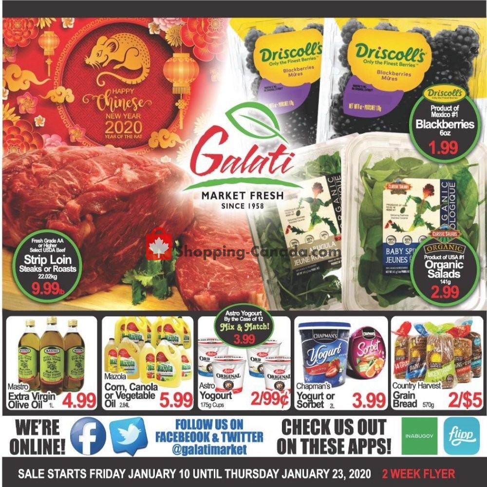 Flyer Galati Market Fresh Canada - from Friday January 10, 2020 to Thursday January 23, 2020