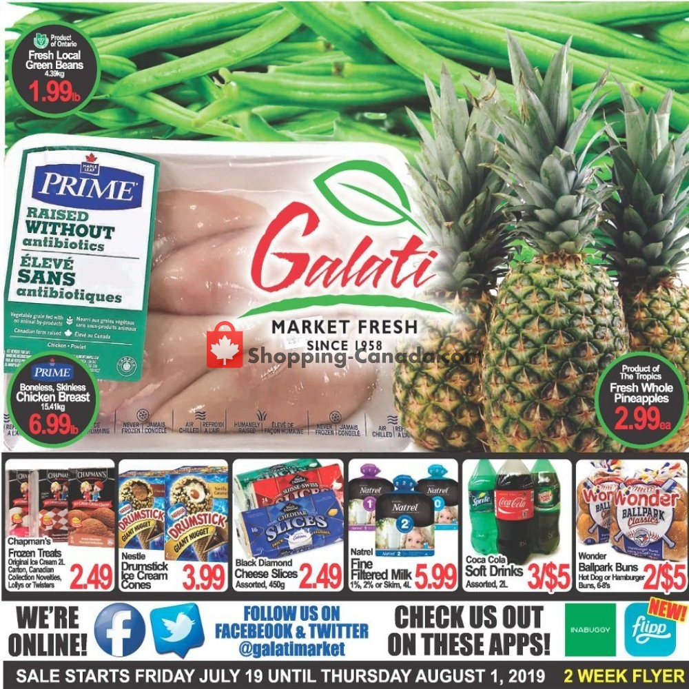 Flyer Galati Market Fresh Canada - from Friday July 19, 2019 to Thursday August 1, 2019