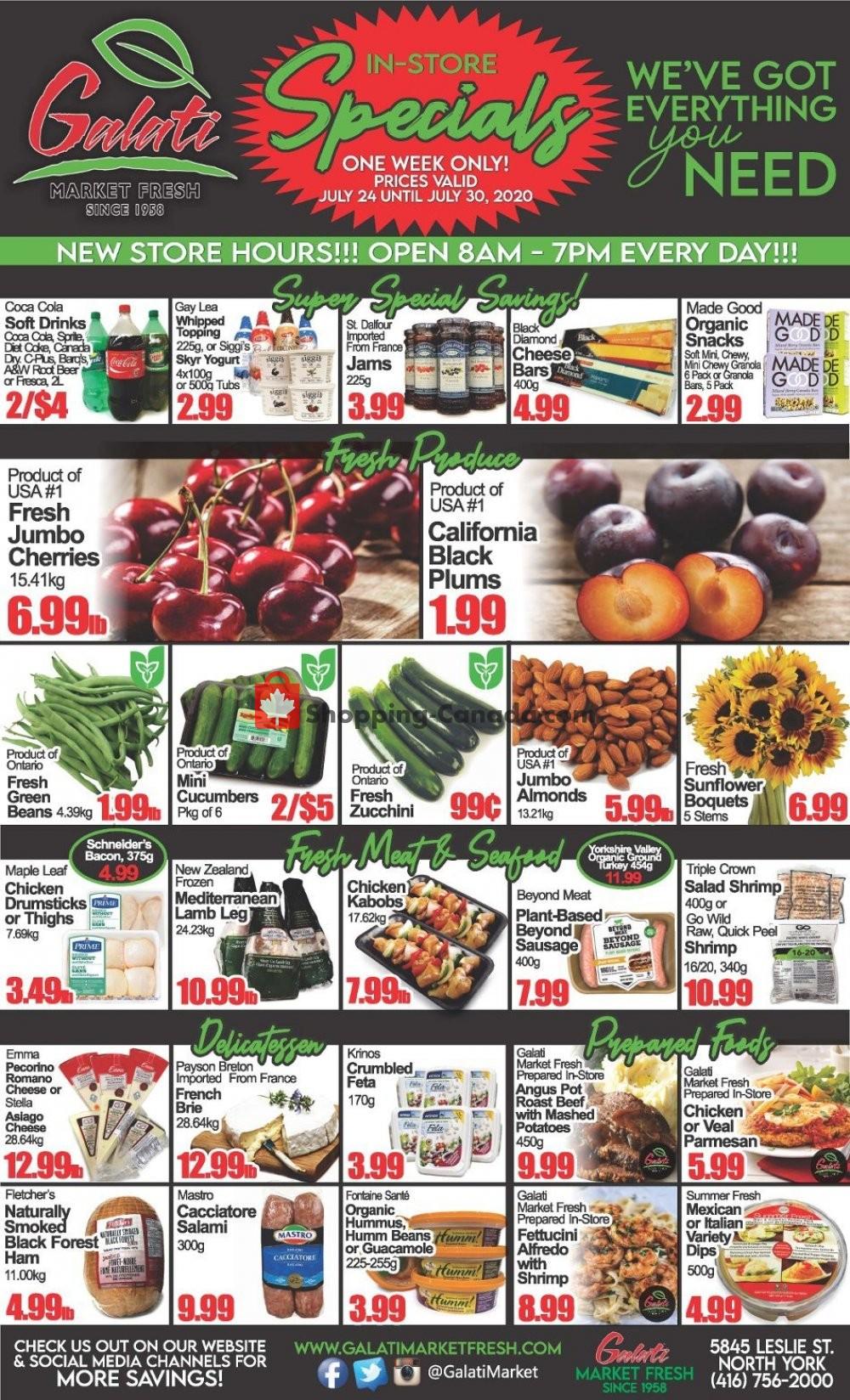 Flyer Galati Market Fresh Canada - from Friday July 24, 2020 to Thursday July 30, 2020