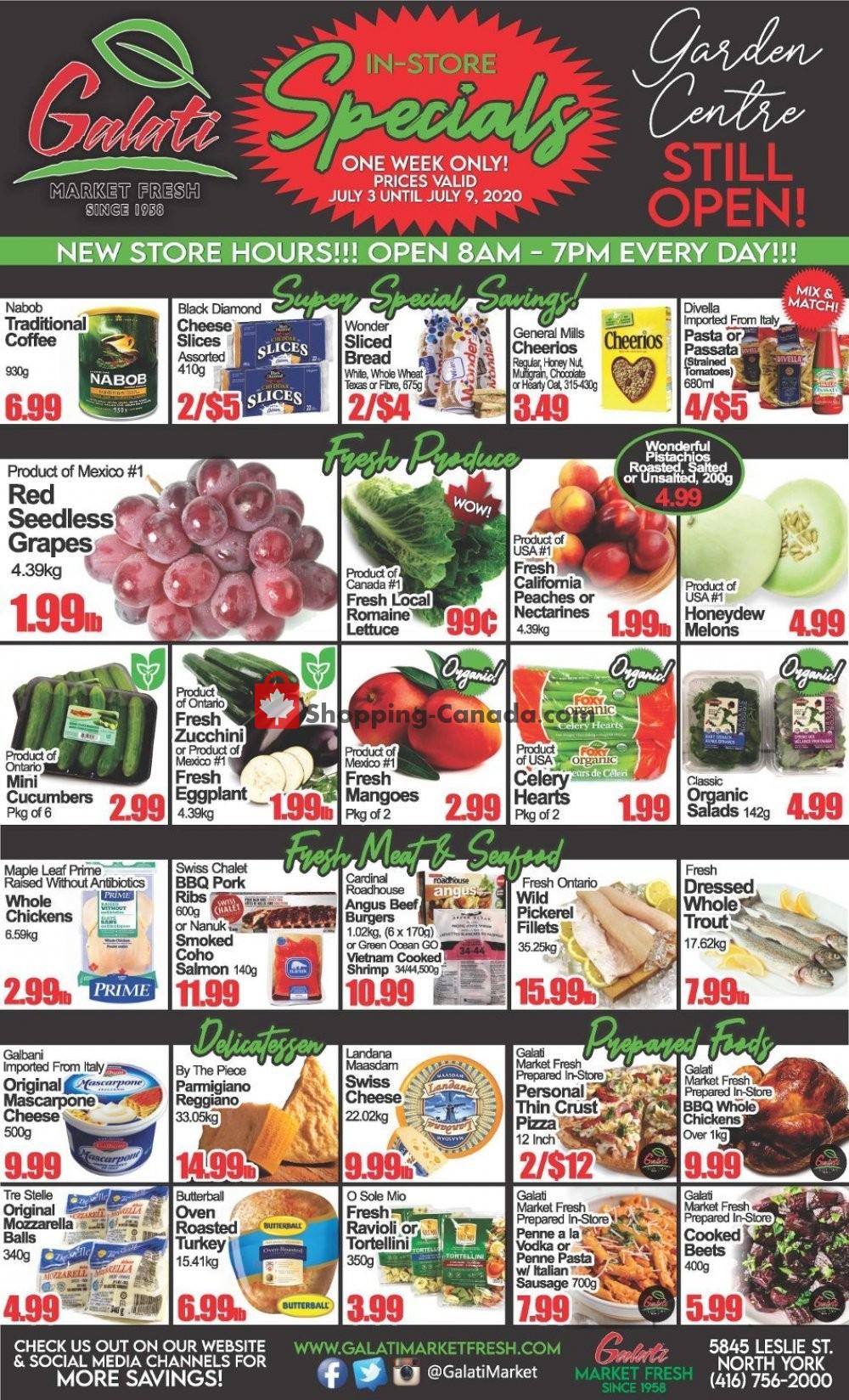 Flyer Galati Market Fresh Canada - from Friday July 3, 2020 to Thursday July 9, 2020