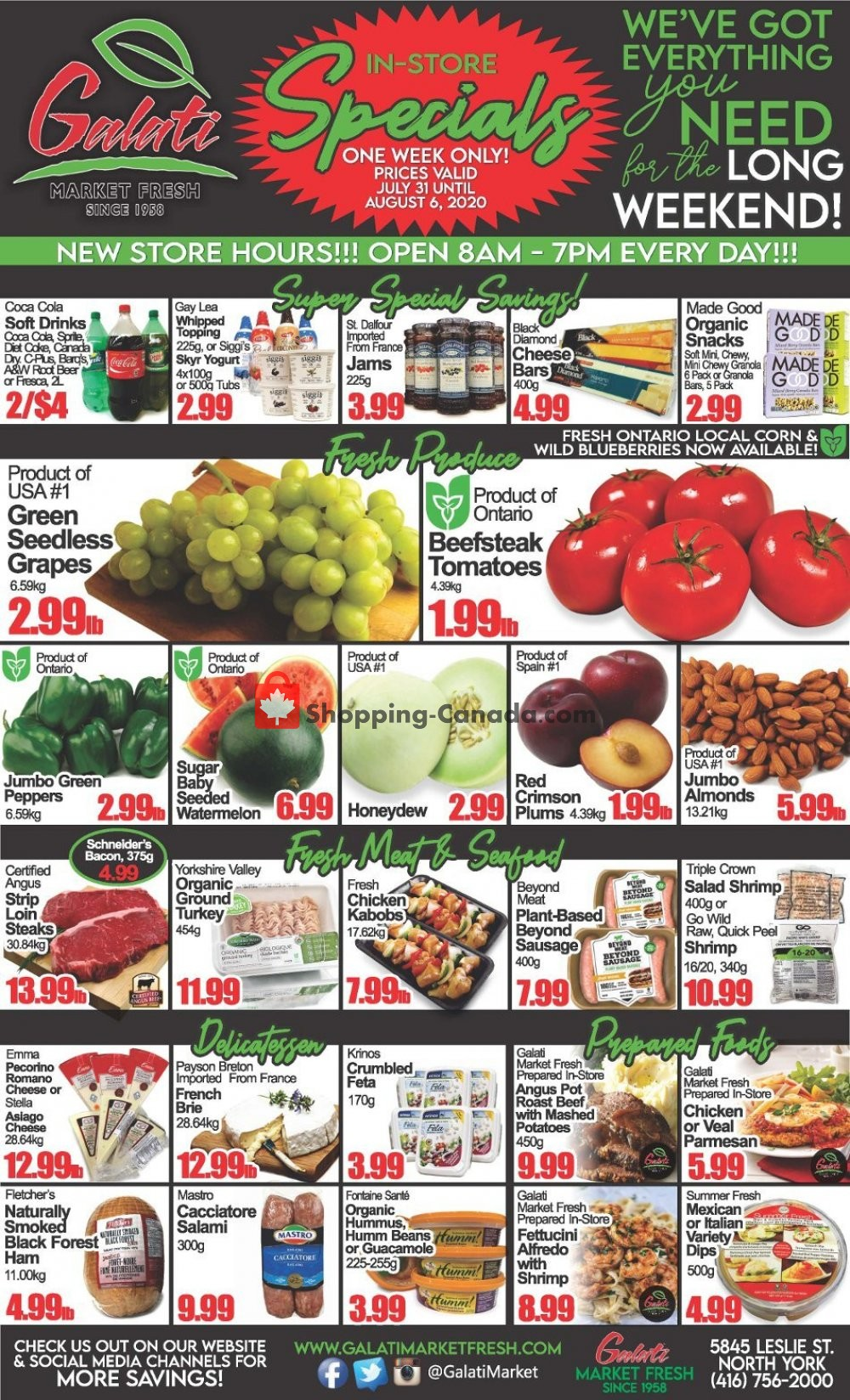 Flyer Galati Market Fresh Canada - from Friday July 31, 2020 to Thursday August 6, 2020