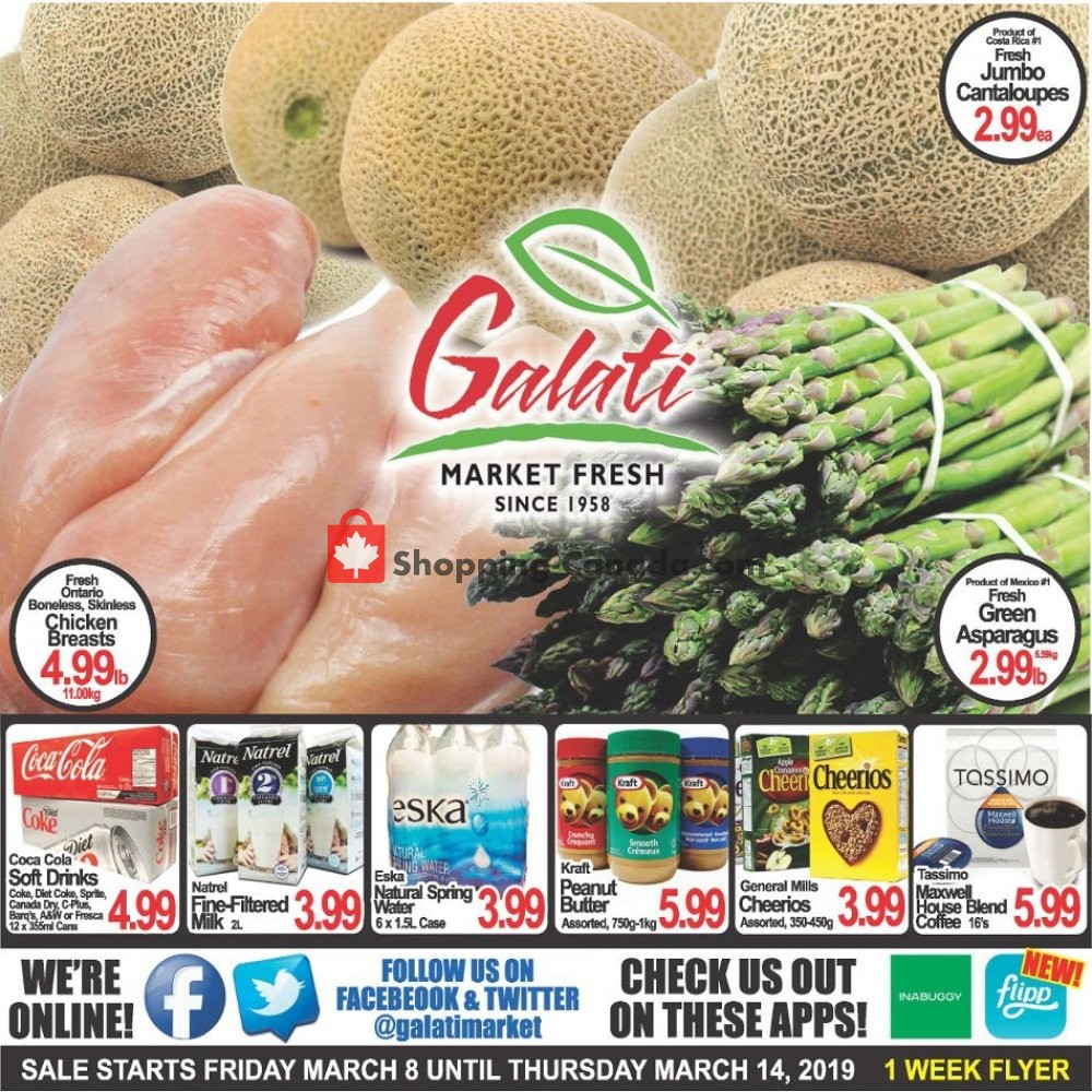 Flyer Galati Market Fresh Canada - from Friday March 8, 2019 to Thursday March 14, 2019