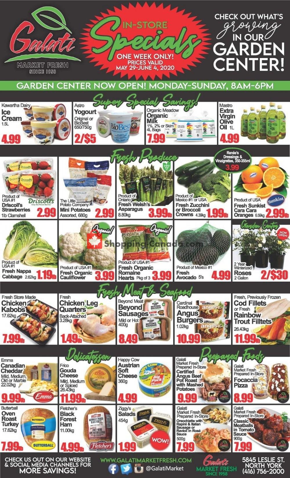 Flyer Galati Market Fresh Canada - from Friday May 29, 2020 to Thursday June 4, 2020