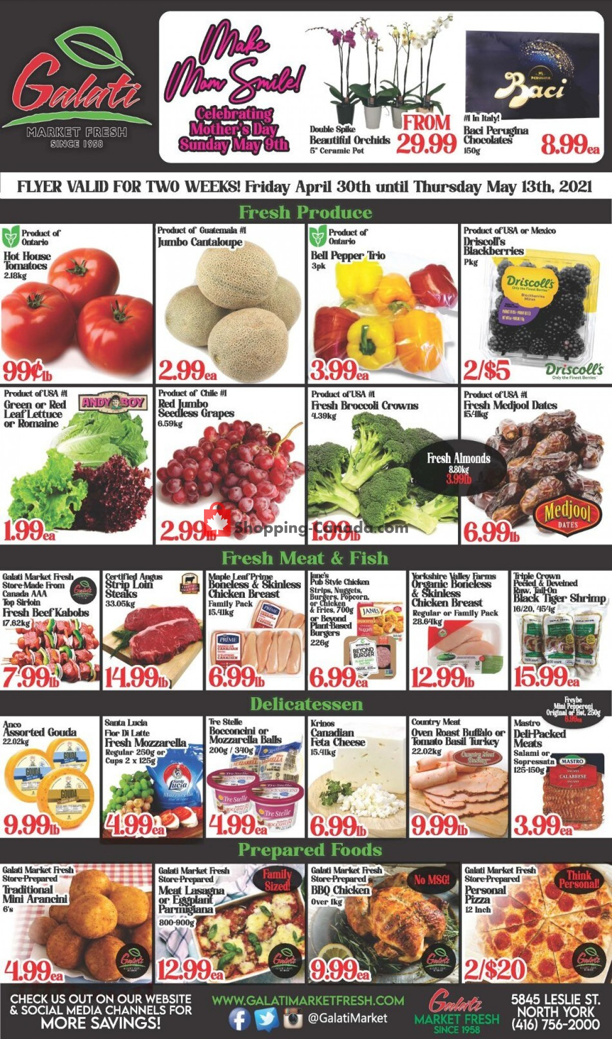 Flyer Galati Market Fresh Canada - from Friday April 30, 2021 to Thursday May 13, 2021