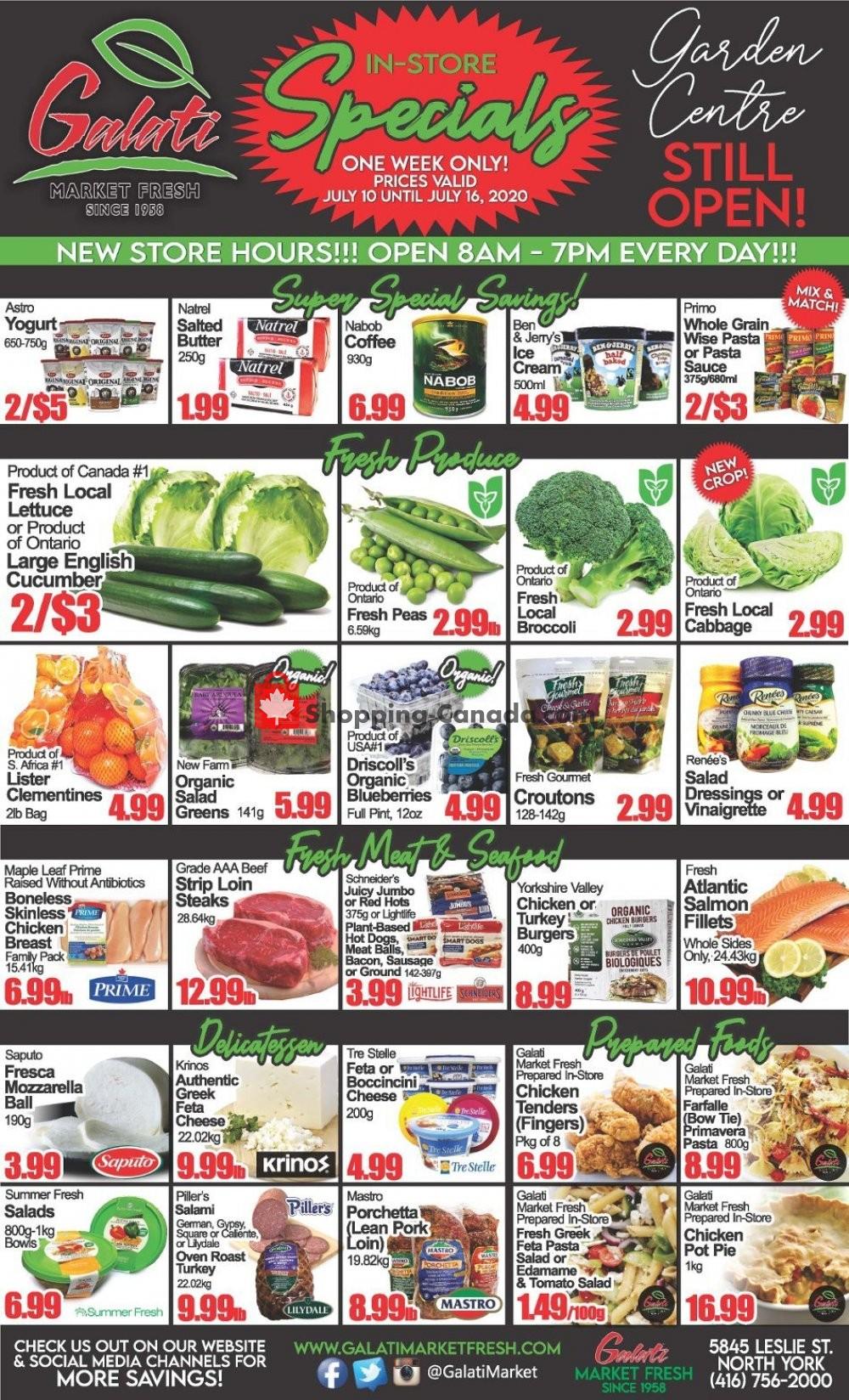 Flyer Galati Market Fresh Canada - from Friday July 10, 2020 to Thursday July 16, 2020