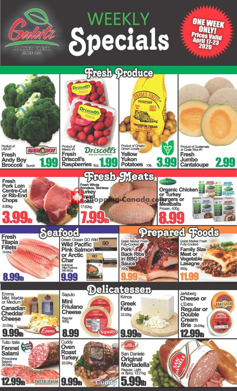 Flyer Galati Market Fresh Canada - from Friday April 17, 2020 to Thursday April 23, 2020