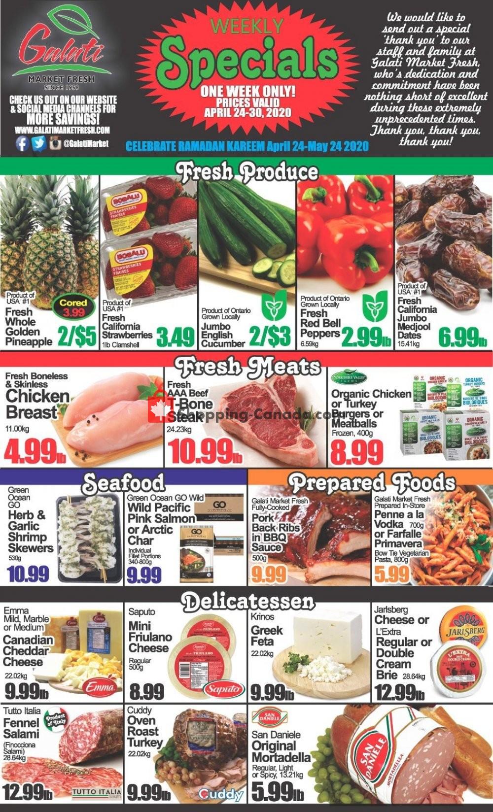 Flyer Galati Market Fresh Canada - from Friday April 24, 2020 to Sunday May 24, 2020