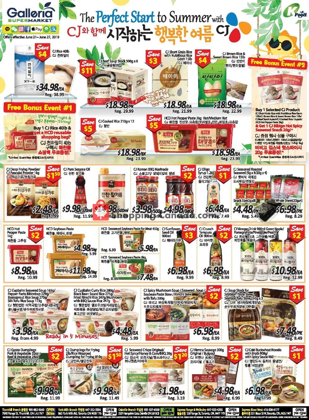 Flyer Galleria Supermarket Canada - from Friday June 21, 2019 to Thursday June 27, 2019
