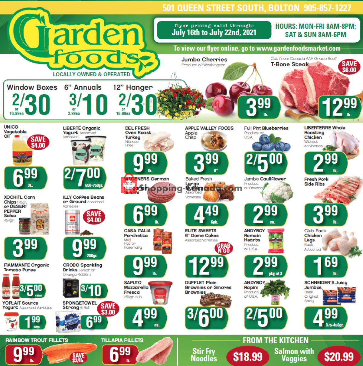 Flyer Garden Foods Canada - from Friday July 16, 2021 to Thursday July 22, 2021
