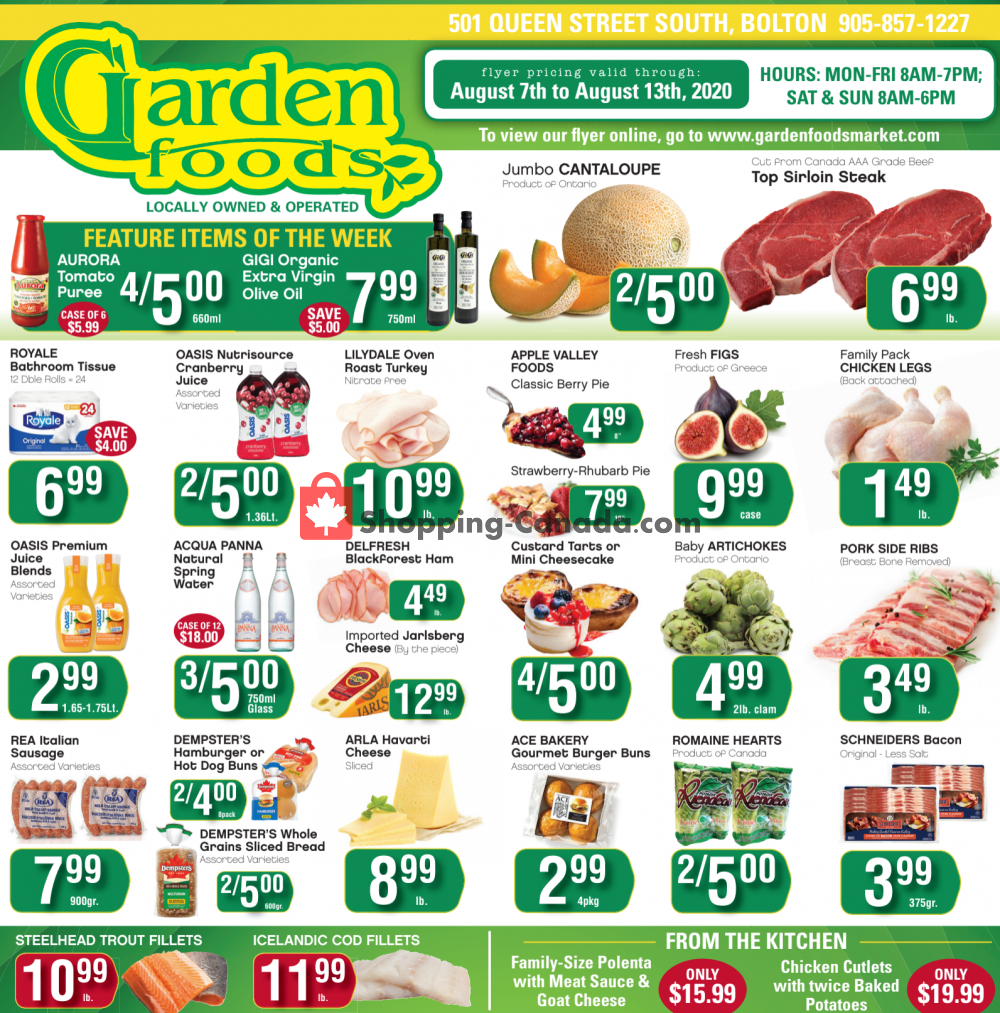 Flyer Garden Foods Canada - from Friday August 7, 2020 to Thursday August 13, 2020