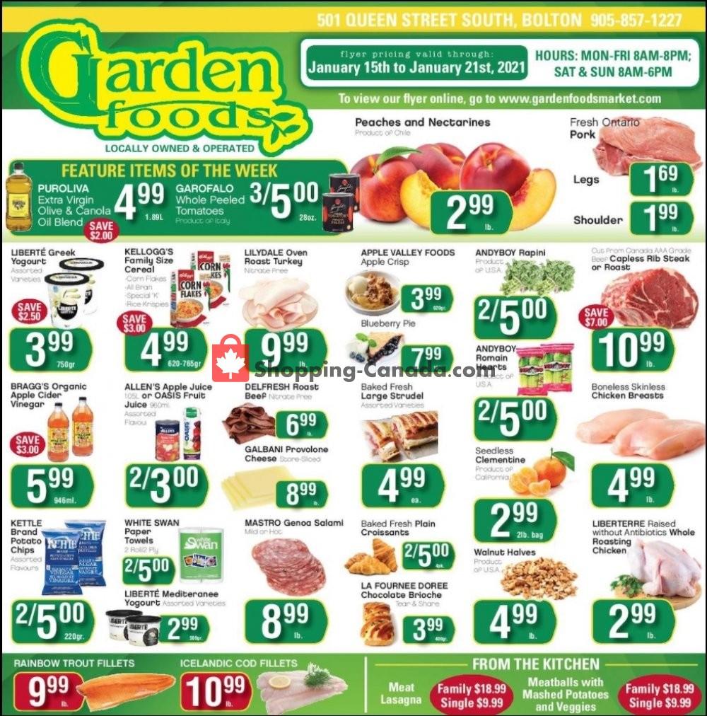 Flyer Garden Foods Canada - from Friday January 15, 2021 to Thursday January 21, 2021