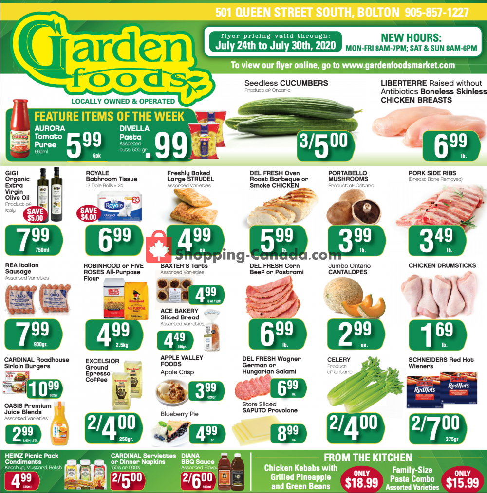 Flyer Garden Foods Canada - from Friday July 24, 2020 to Thursday July 30, 2020
