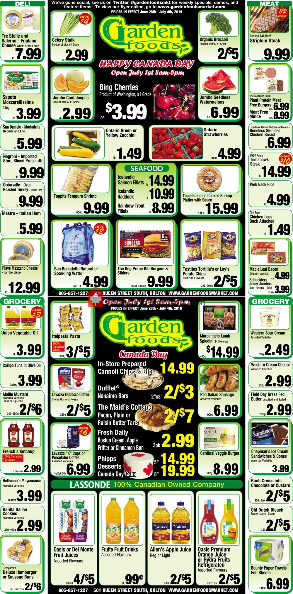 Flyer Garden Foods Canada - from Friday June 28, 2019 to Thursday July 4, 2019