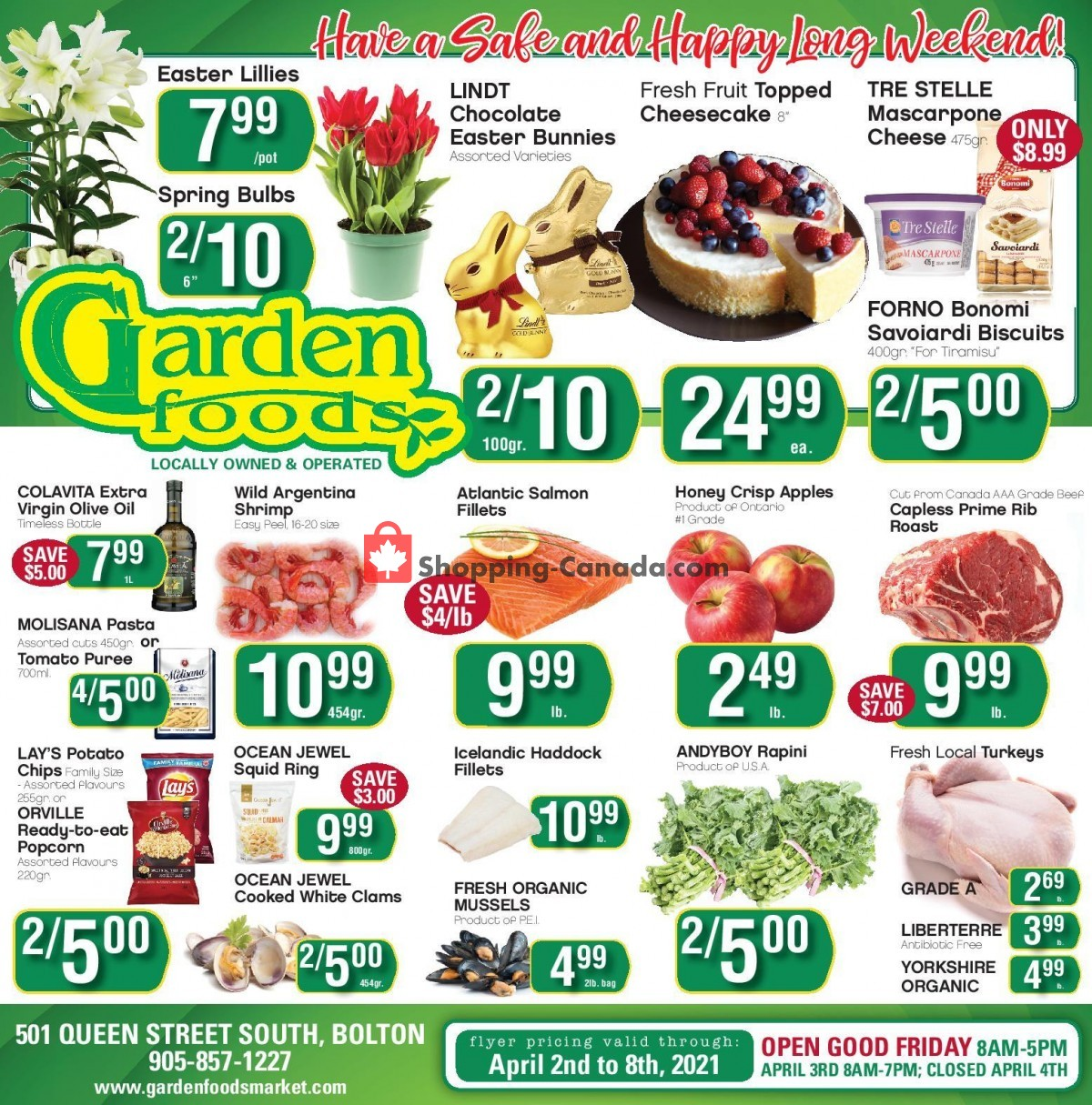Flyer Garden Foods Canada - from Friday April 2, 2021 to Thursday April 8, 2021