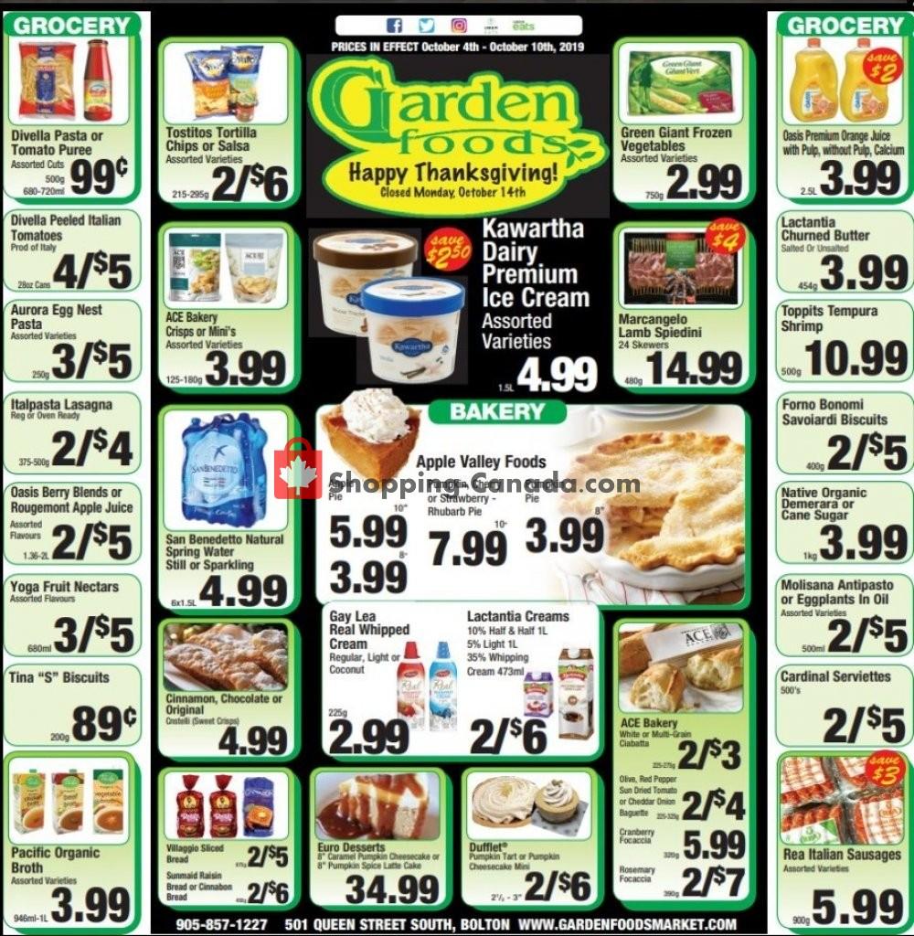 Flyer Garden Foods Canada - from Friday October 4, 2019 to Thursday October 10, 2019