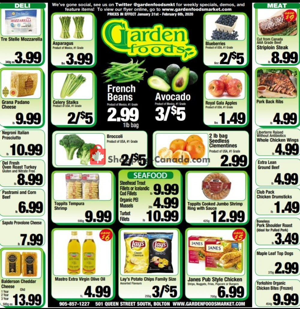 Flyer Garden Foods Canada - from Friday January 31, 2020 to Thursday February 6, 2020