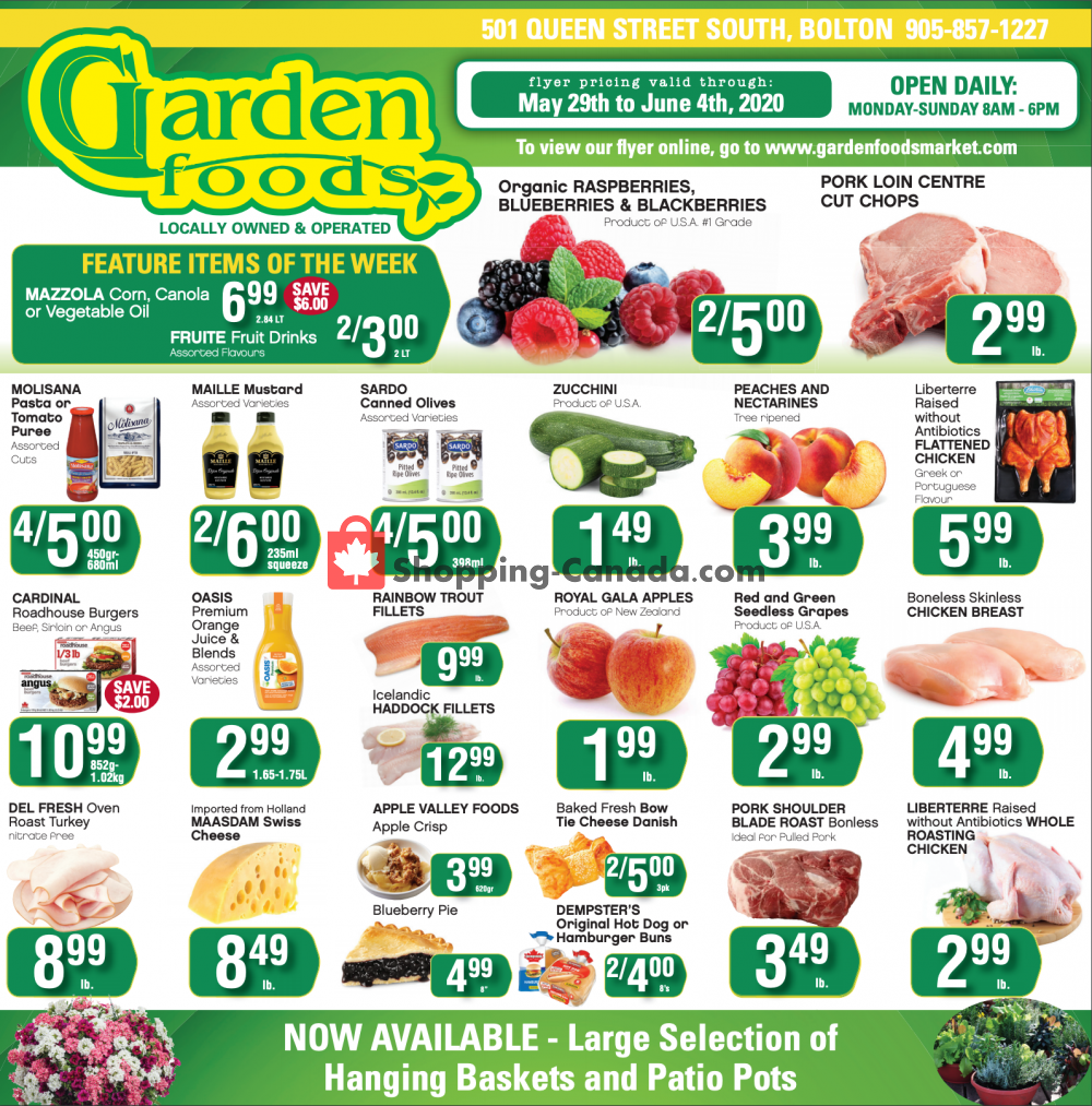 Flyer Garden Foods Canada - from Friday May 29, 2020 to Thursday June 4, 2020