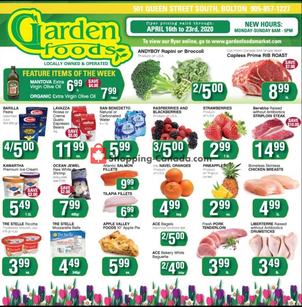 Flyer Garden Foods Canada - from Thursday April 16, 2020 to Thursday April 23, 2020