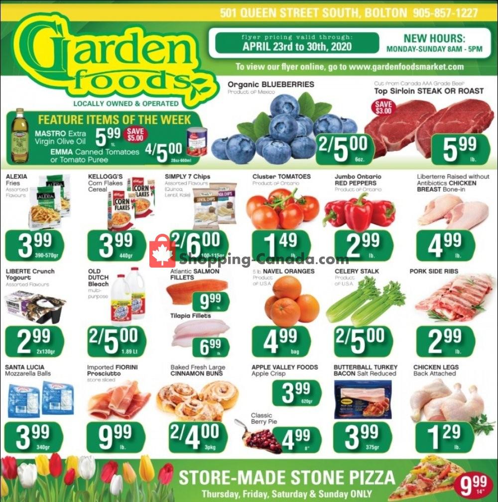 Flyer Garden Foods Canada - from Thursday April 23, 2020 to Thursday April 30, 2020