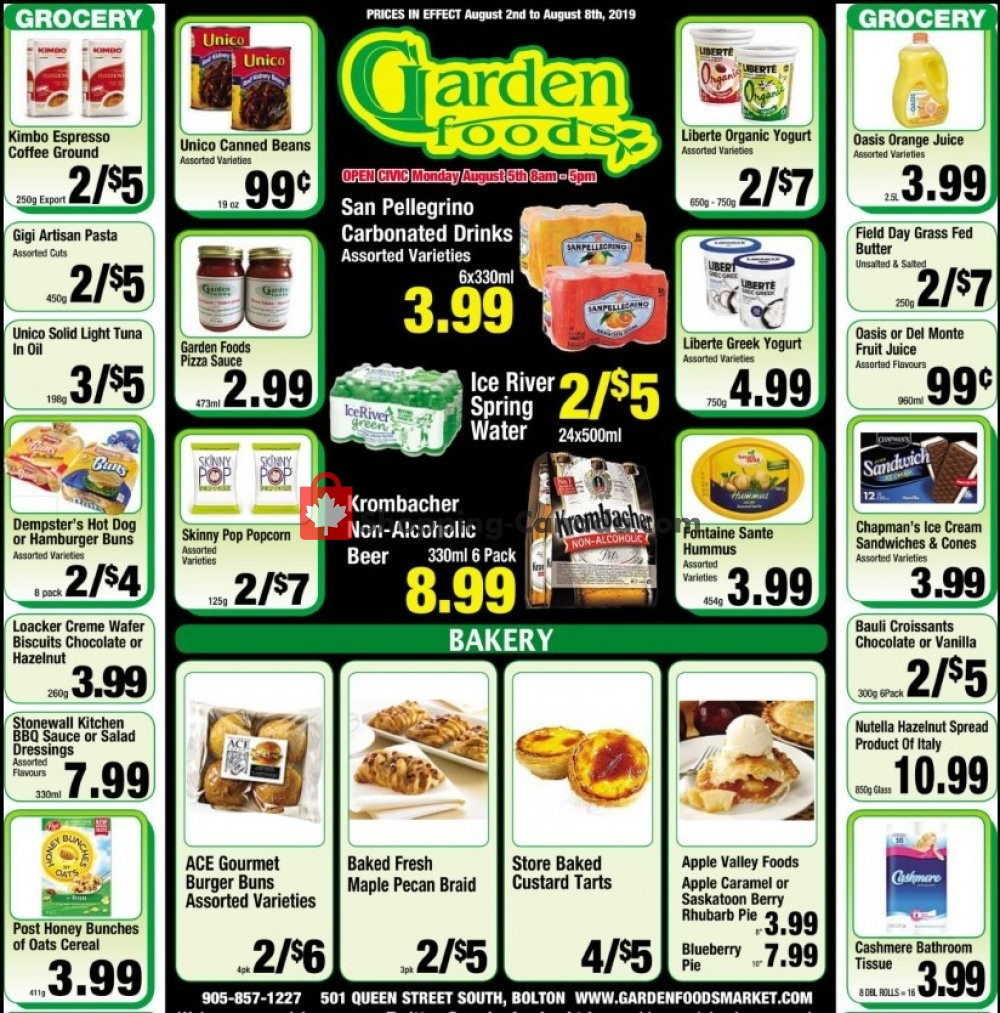 Flyer Garden Foods Canada - from Friday August 2, 2019 to Thursday August 8, 2019