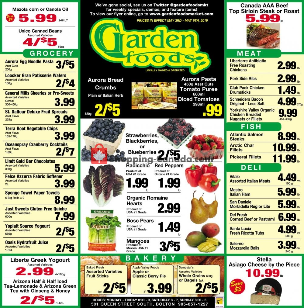 Flyer Garden Foods Canada - from Friday May 3, 2019 to Thursday May 9, 2019