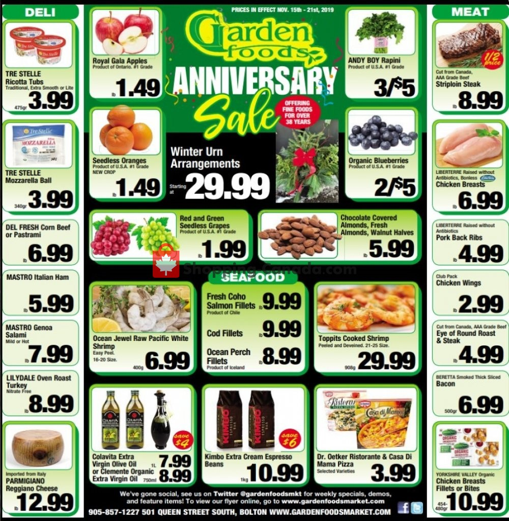 Flyer Garden Foods Canada - from Friday November 15, 2019 to Thursday November 21, 2019