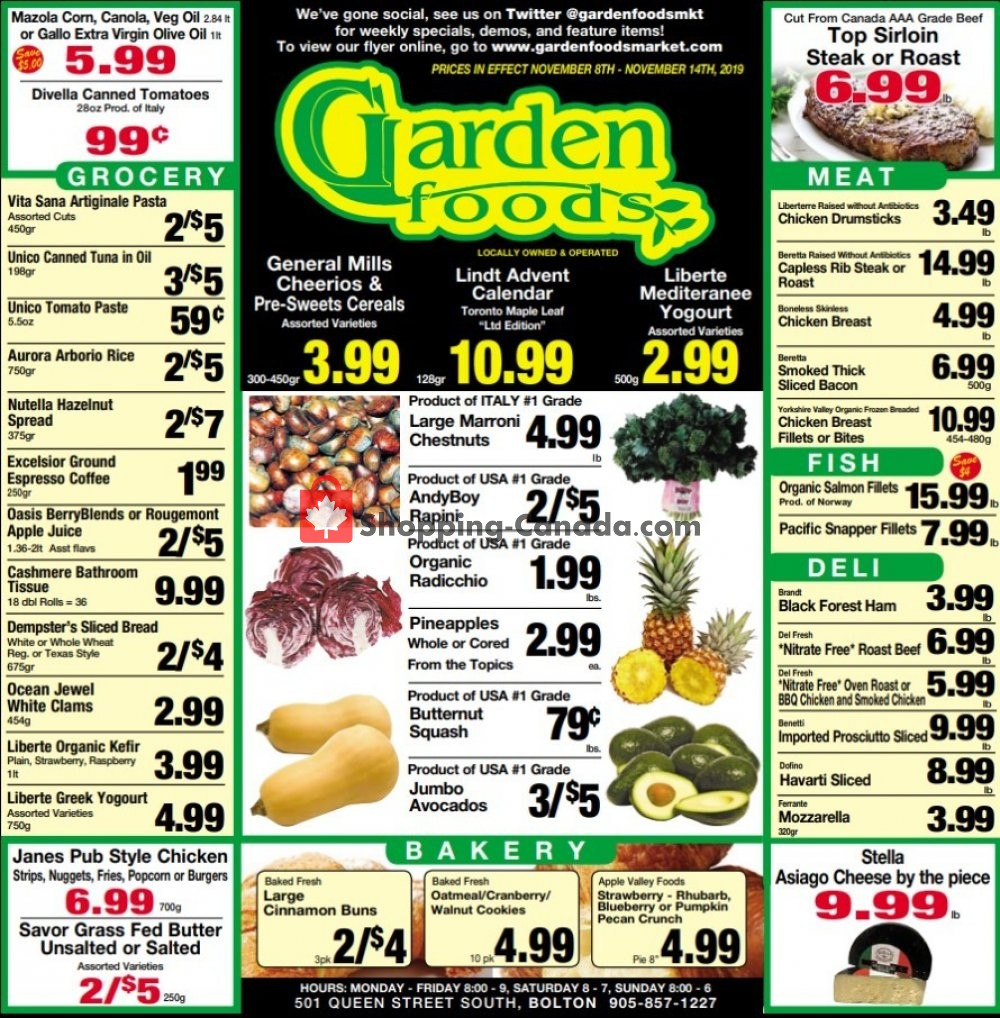Flyer Garden Foods Canada - from Friday November 8, 2019 to Thursday November 14, 2019
