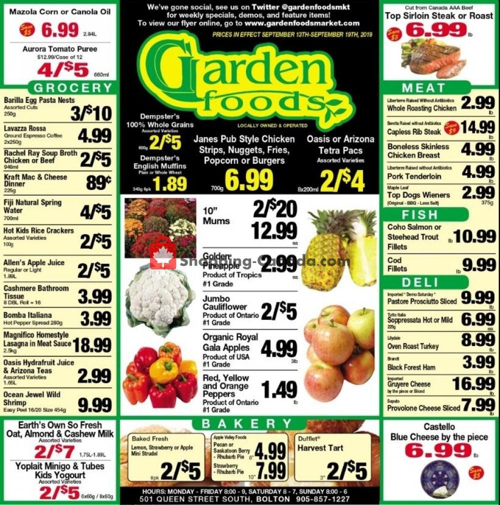 Flyer Garden Foods Canada - from Friday September 13, 2019 to Thursday September 19, 2019