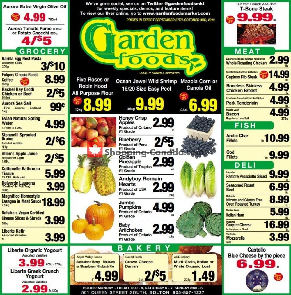 Flyer Garden Foods Canada - from Friday September 27, 2019 to Thursday October 3, 2019