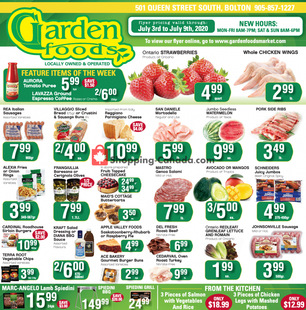 Flyer Garden Foods Canada - from Friday July 3, 2020 to Thursday July 9, 2020