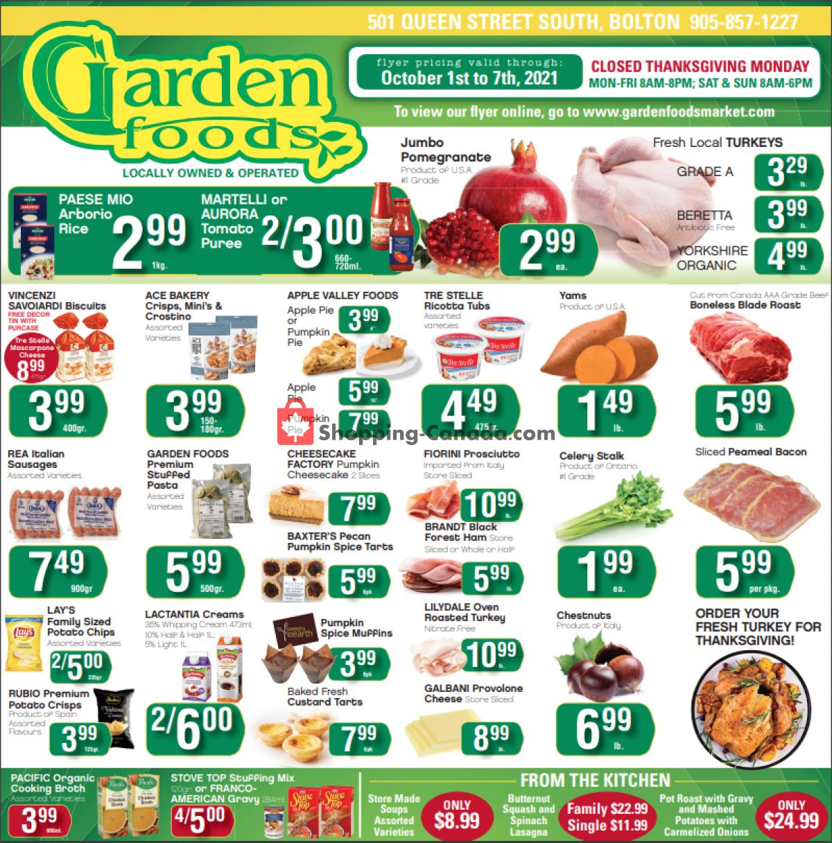 Flyer Garden Foods Canada - from Friday October 1, 2021 to Thursday October 7, 2021