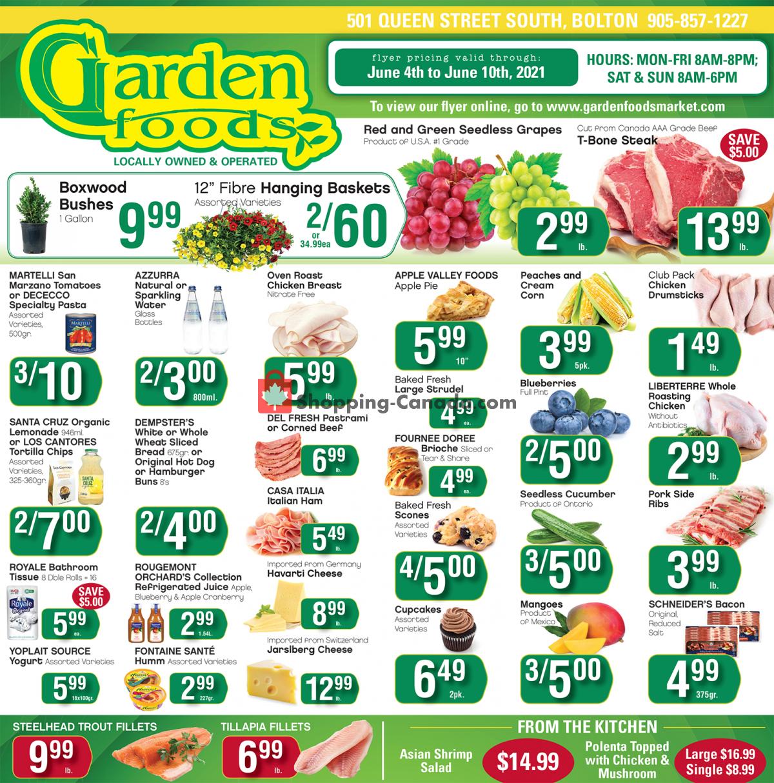 Flyer Garden Foods Canada - from Friday June 4, 2021 to Thursday June 10, 2021