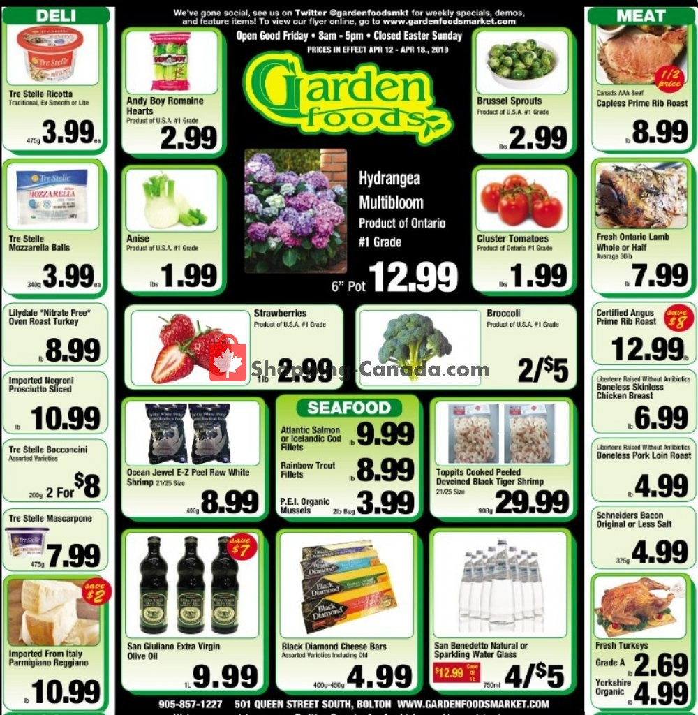 Flyer Garden Foods Canada - from Friday April 12, 2019 to Thursday April 18, 2019