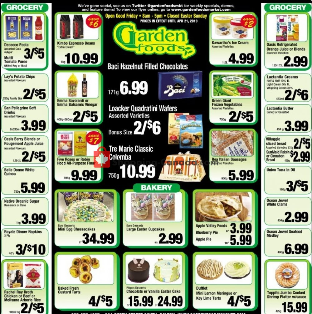 Flyer Garden Foods Canada - from Friday April 19, 2019 to Sunday April 21, 2019