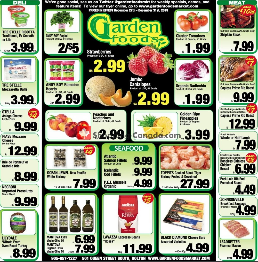 Flyer Garden Foods Canada - from Friday December 27, 2019 to Tuesday December 31, 2019